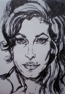 Amy - Inkt 30x40