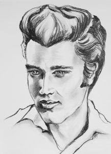 Elvis - Potlood 30x40