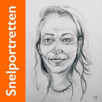 Snelportretten Kunststudio Mirjam Tiggeloven